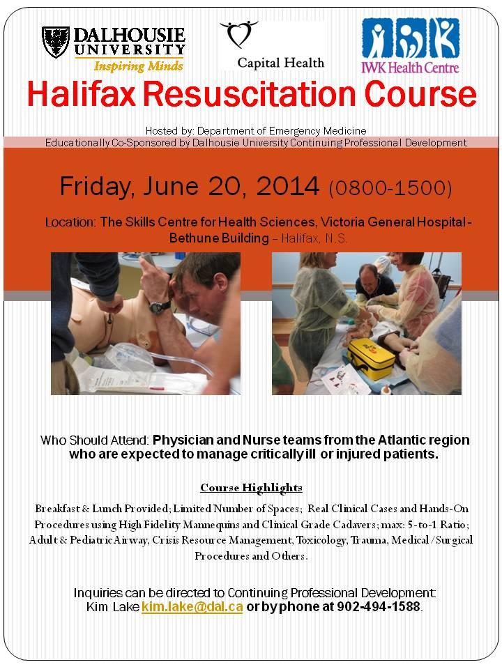 Halifax Resuscitation Course