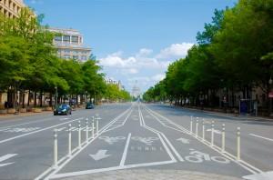Bike lanes on Pennsylvania Avenue