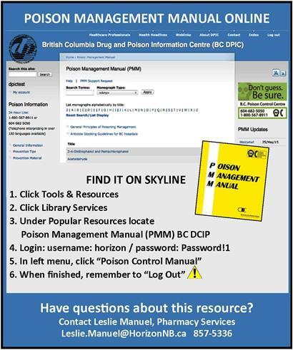 Poison Management Manual – BC Drug and Poison Information