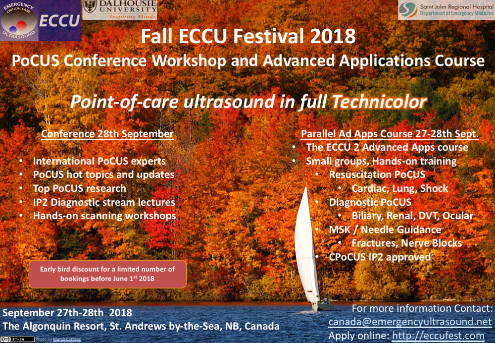 Fall ECCU Fest 2018 – PoCUS Conference Workshop and ECCU2