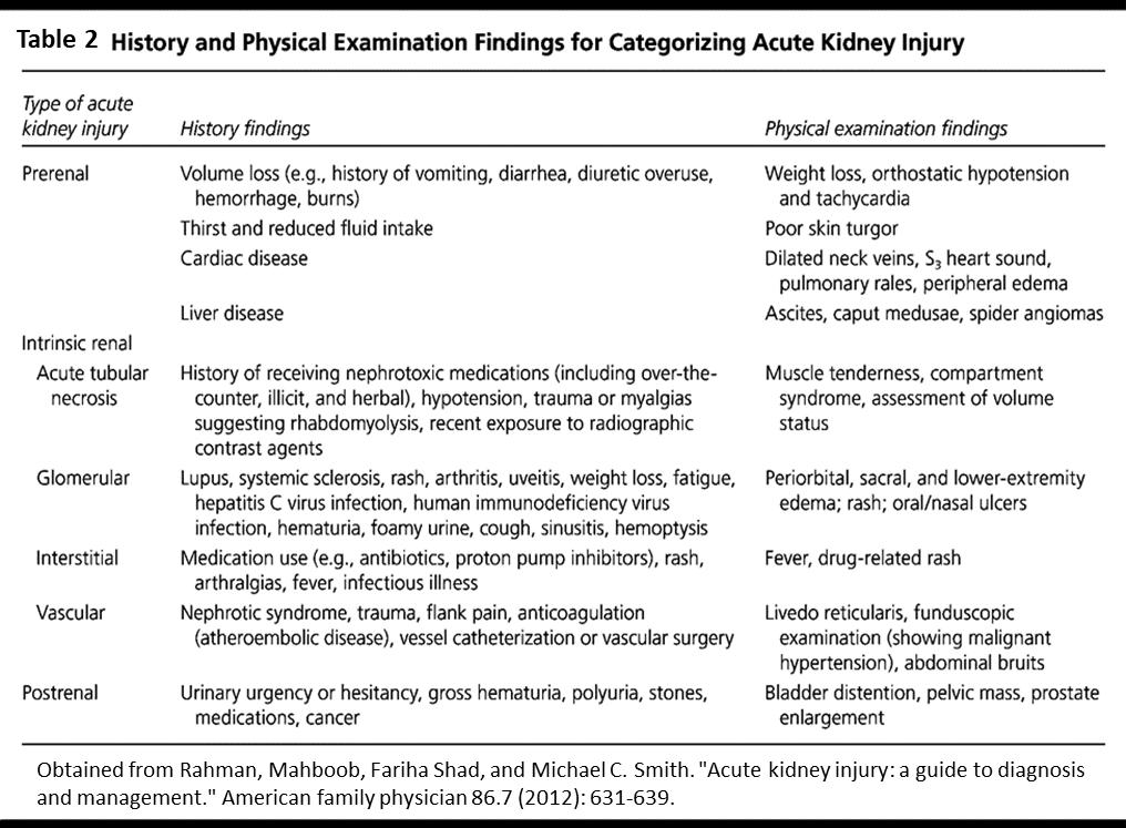 Acute Kidney Injury Department Of Emergency Medicine Saint John